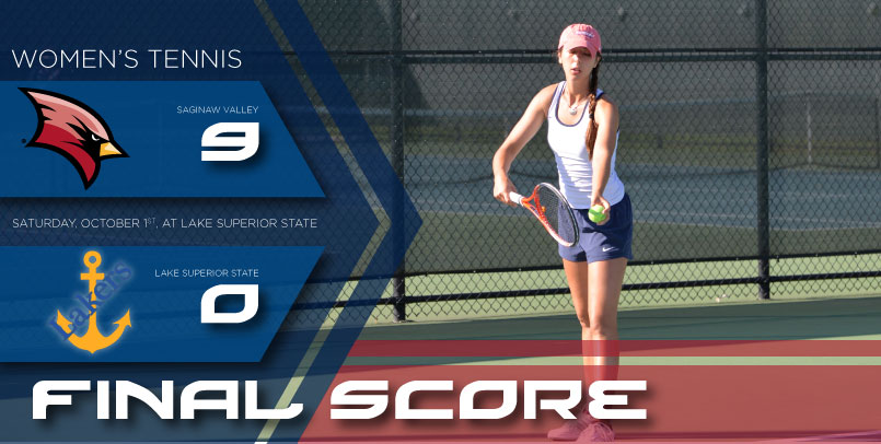 Women's Tennis cruises to 9-0 victory at LSSU