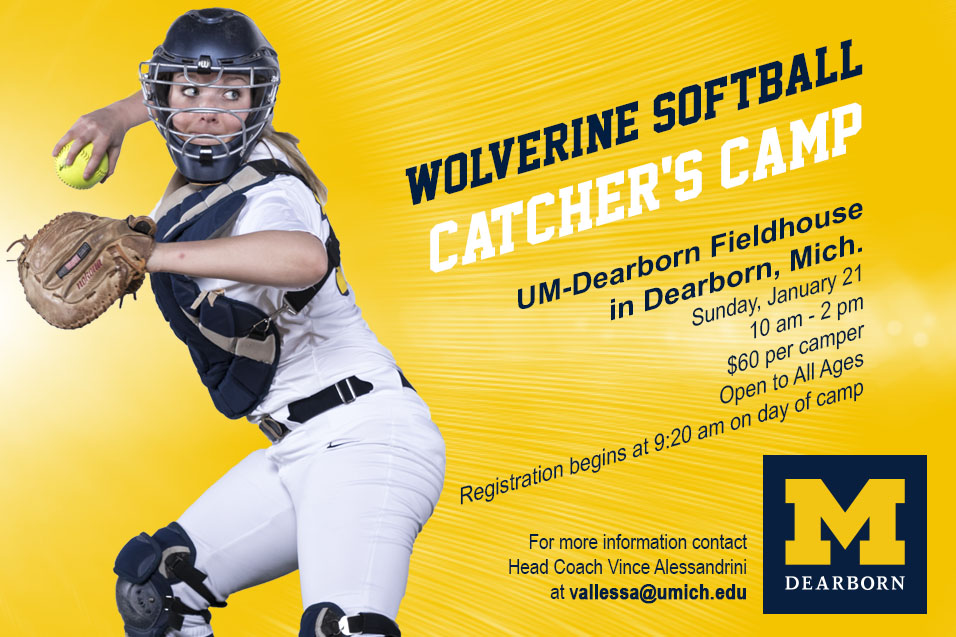 Softball Catcher's Camps set for Sunday, Jan. 21