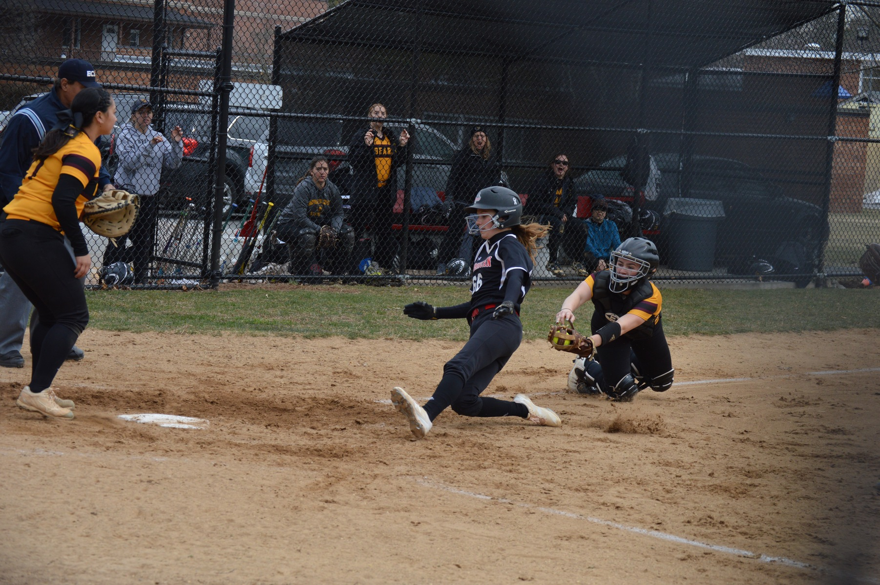 The Lady Chargers softball squad swept a CACC double-header on the road this afternoon as they defeated Chestnut Hill College.