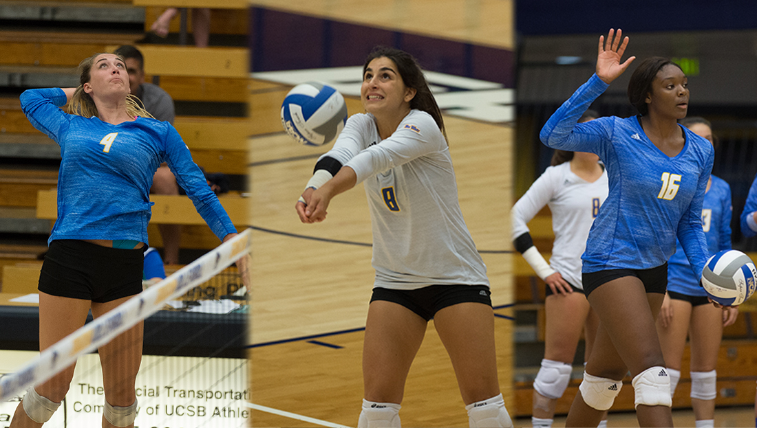 Gaucho Trio Sweeps Big West Weekly Honors
