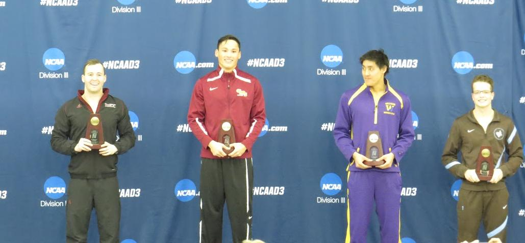 Williams wins national championship in 100 backstroke; Stags in ninth