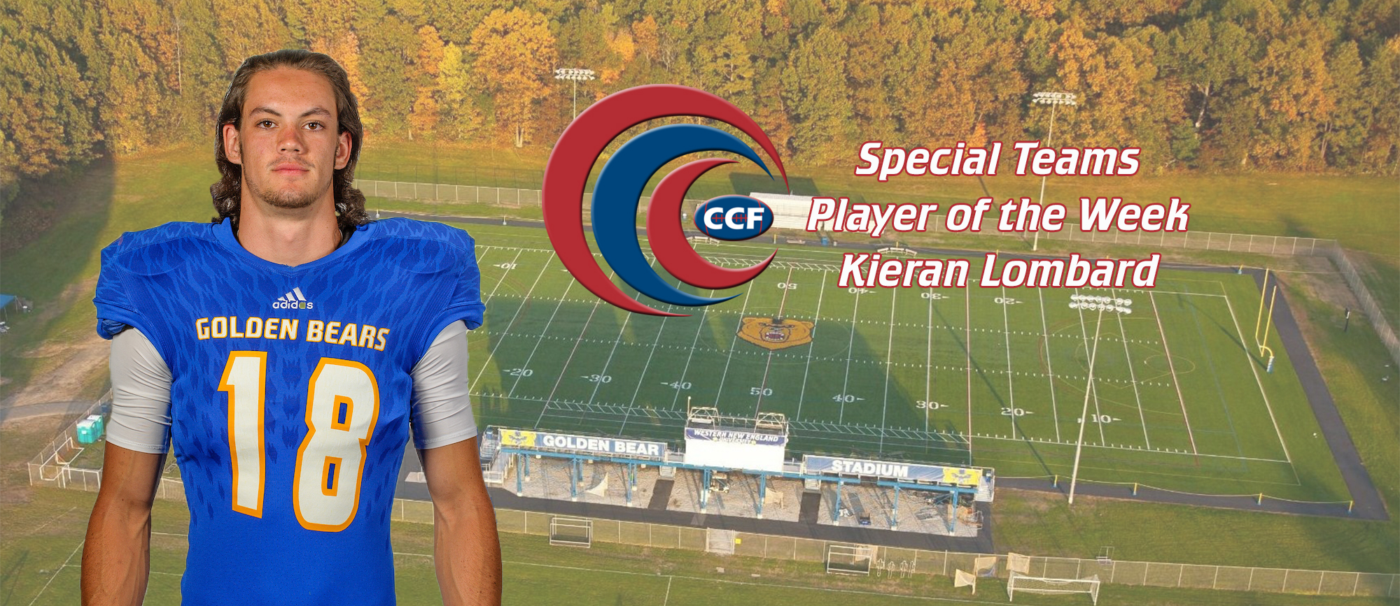 Kieran Lombard Named CCC Football Special Teams Player of the Week