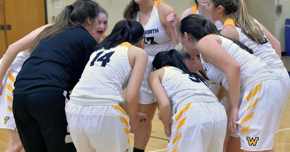Women's Basketball Dominates First Half; Falls to Late Comeback at Salve Regina