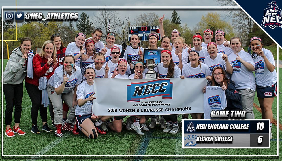New England College Women's Lacrosse Earns First Conference Title Since 2004