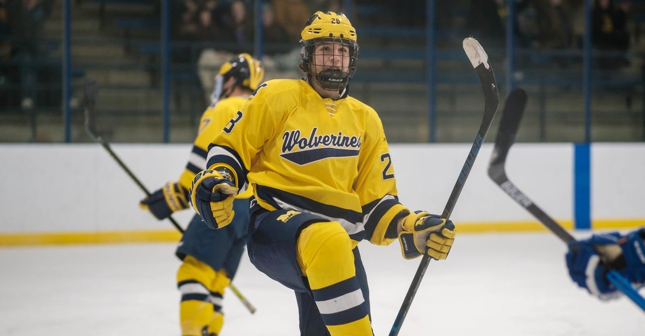 Davis hat trick leads Wolverines on Senior Night