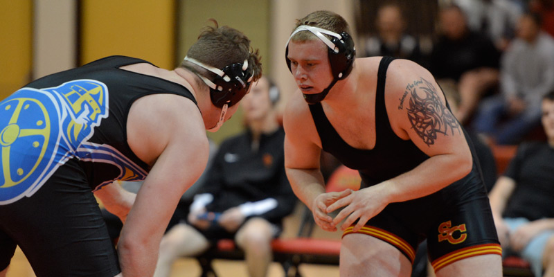Storm wrestlers drop three at conference duals