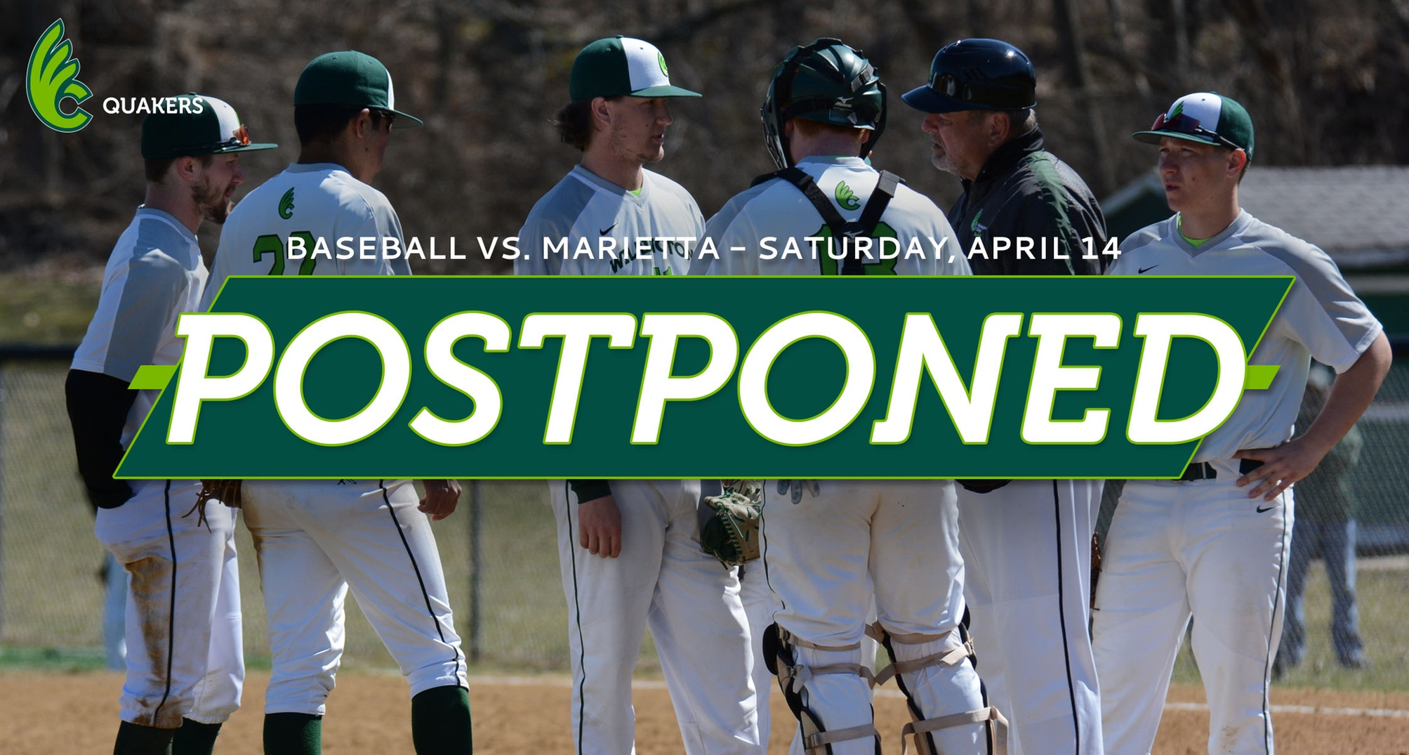 Baseball's Series With Marietta Postponed