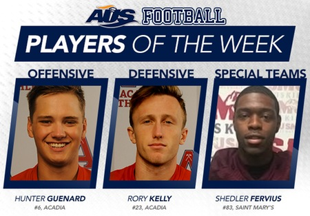 Guenard & Kelly named AUS Football Players of the Week