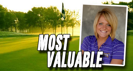 Carley Rhyne named women's golf team Most Valuable Player