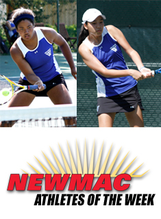 Granger/Lee Named NEWMAC Doubles Team of the Week