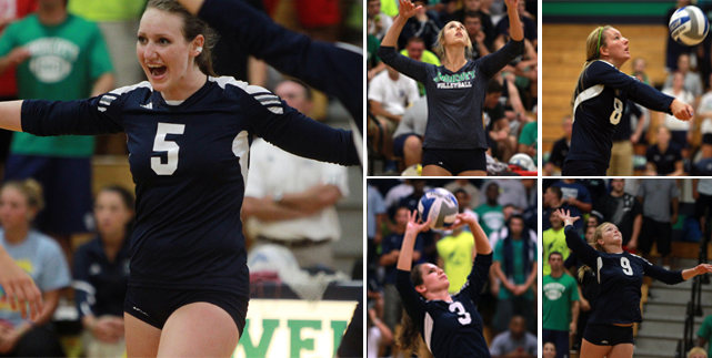 Women's Volleyball Places Five Players on All-CCC Teams