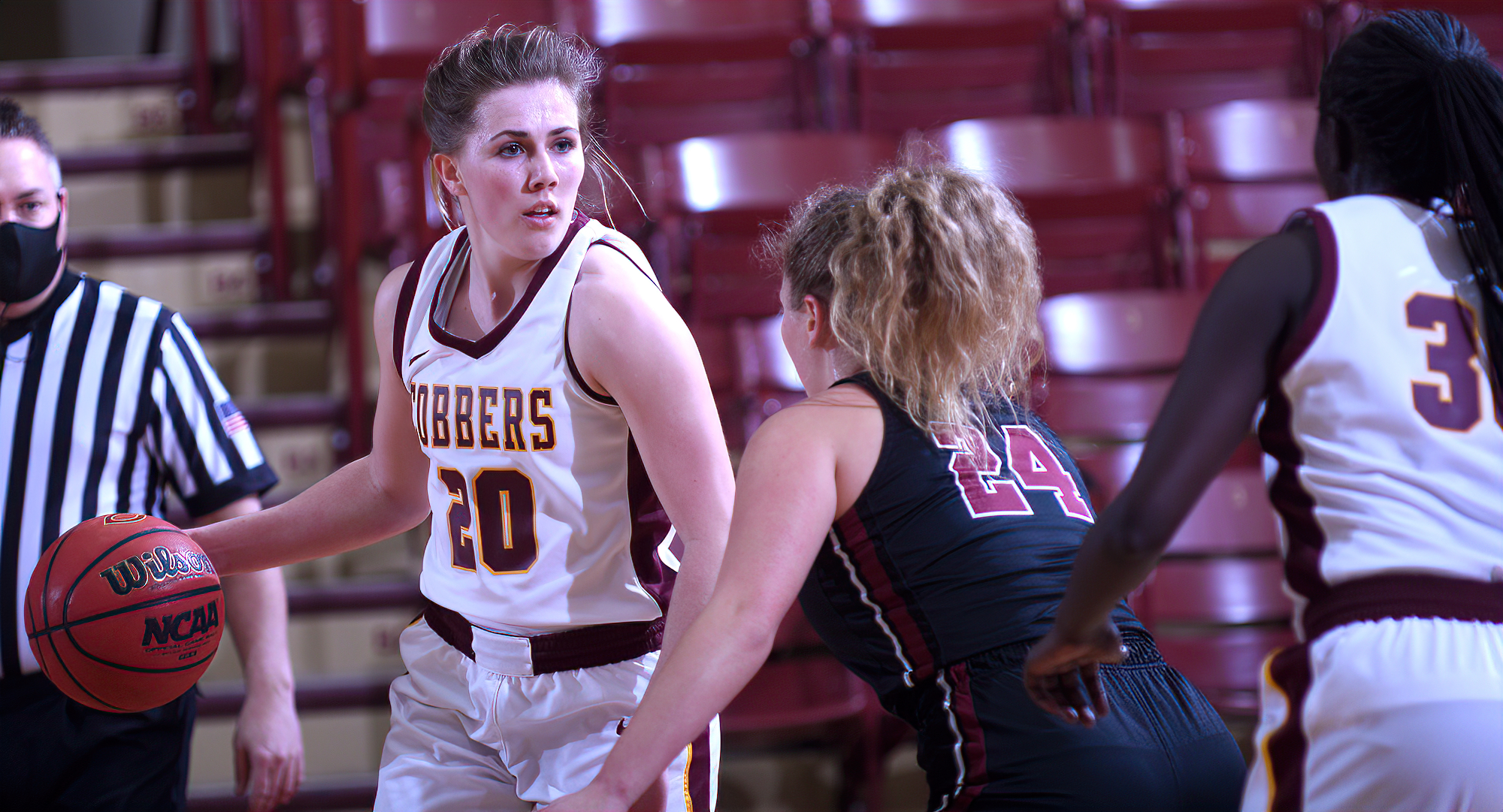 Sophomore Emily Beseman had a game-high 22 points and grabbed a team-high eight rebounds to help Concordia beat St. Ben's 71-62 in the season finale.