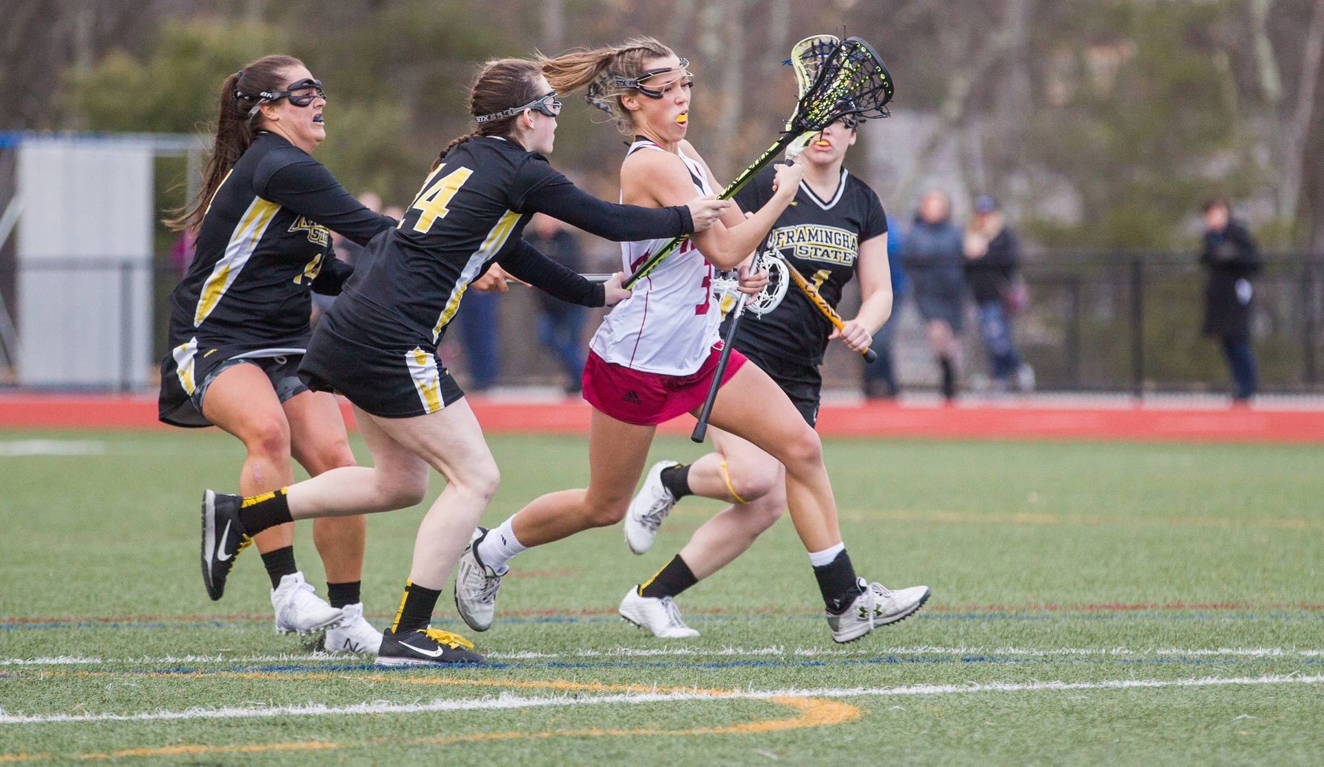 Anselmo Nets 100th Goal as Women's Lacrosse Downs Emmanuel