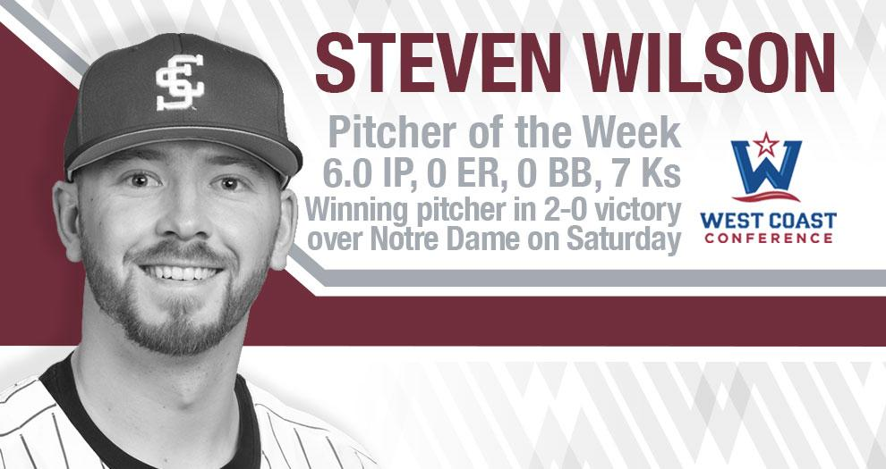 Wilson Named Rawlings WCC Pitcher of the Week