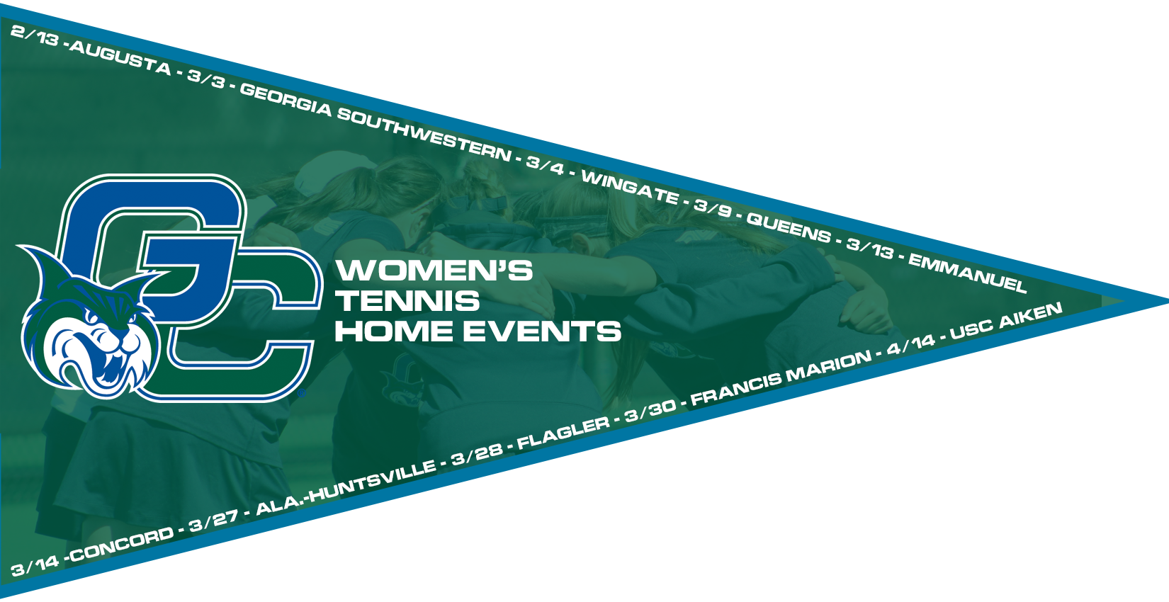 A list of the home events for Bobcat Women's Tennis this spring.