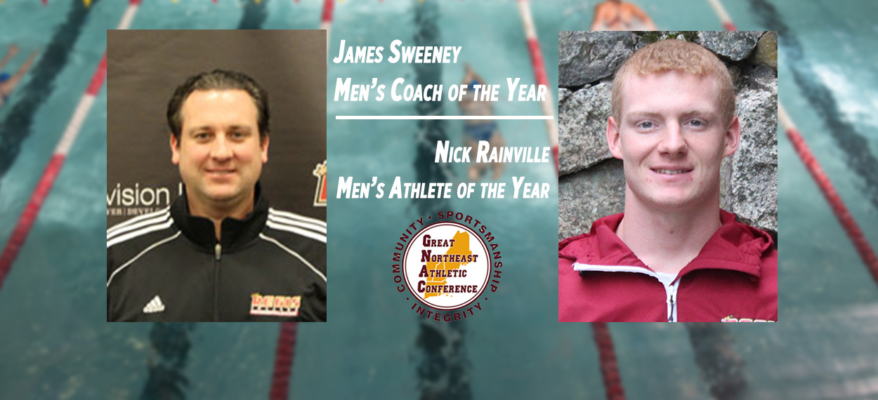 Rainville and Sweeney Receive GNAC Major Swimming Awards