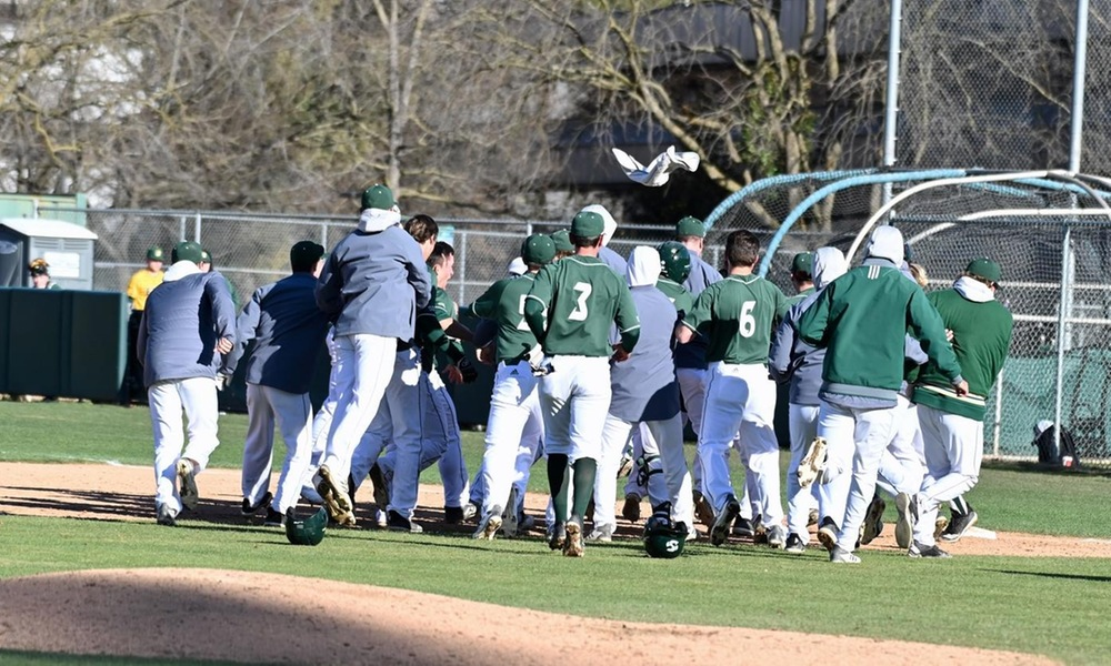 BASEBALL SWEEPS DOUBLE-HEADER SUNDAY TO WIN SEASON-OPENING SERIES AGAINST NORTH DAKOTA STATE