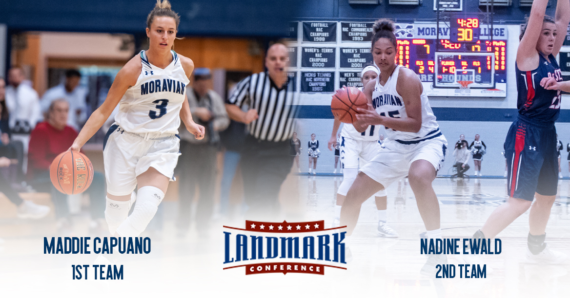 Maddie Capuano and Nadine Ewald selected to 2019 Landmark All-Conference Teams.