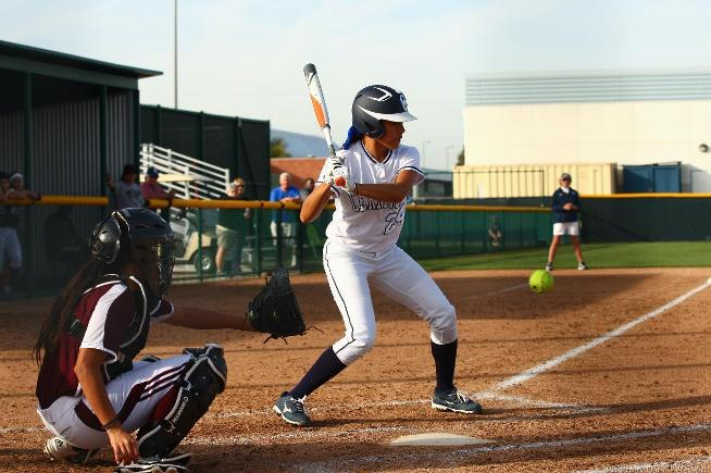 File Photo: The Falcon softball team hit three home runs, including a three-run shot by Stephanie Olivas, but the Falcons lost to Santa Ana, 13-9
