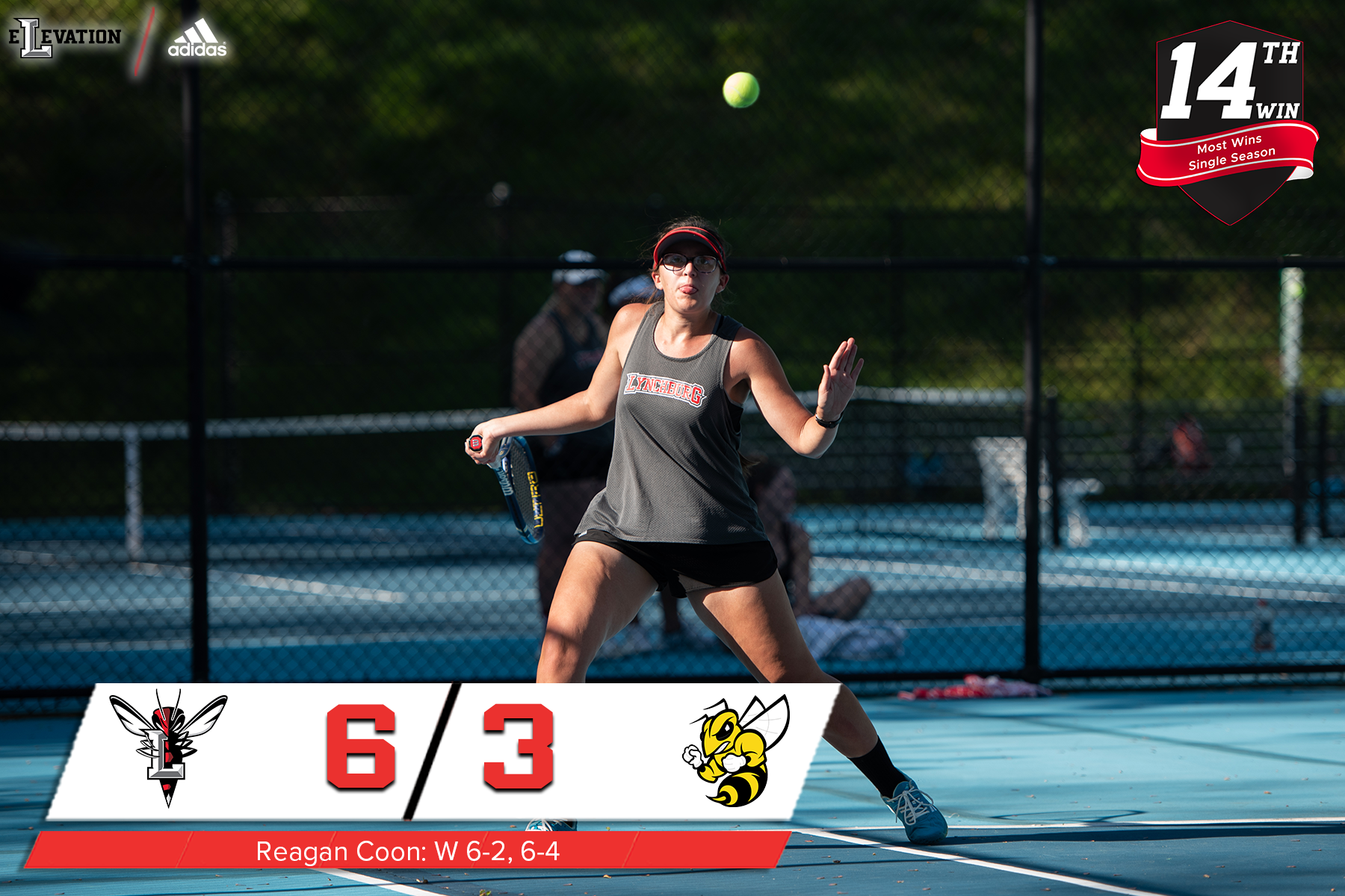 Women's tennis tops R-MC, sets wins record