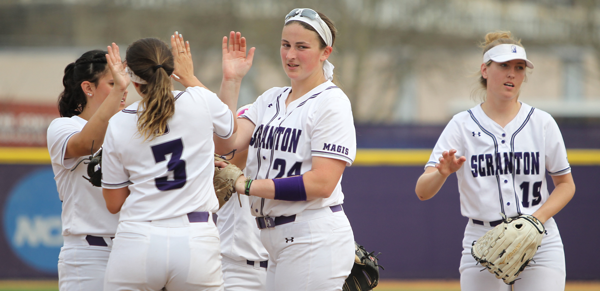The University of Scranton softball team will play in the Landmark Conference Championships for the seventh time in program history beginning on Friday, as the fourth-seeded Royals take on top-seed and host Moravian. © Photo by Timothy R. Dougherty / doubleeaglephotography.com