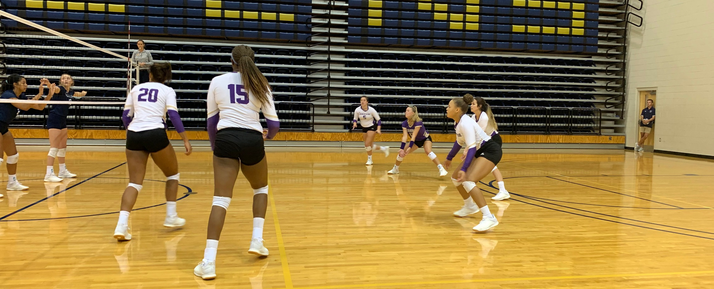 Welcome to the Block Party! Finkley's Record Day Leads Converse to Five Set Win Over Barton