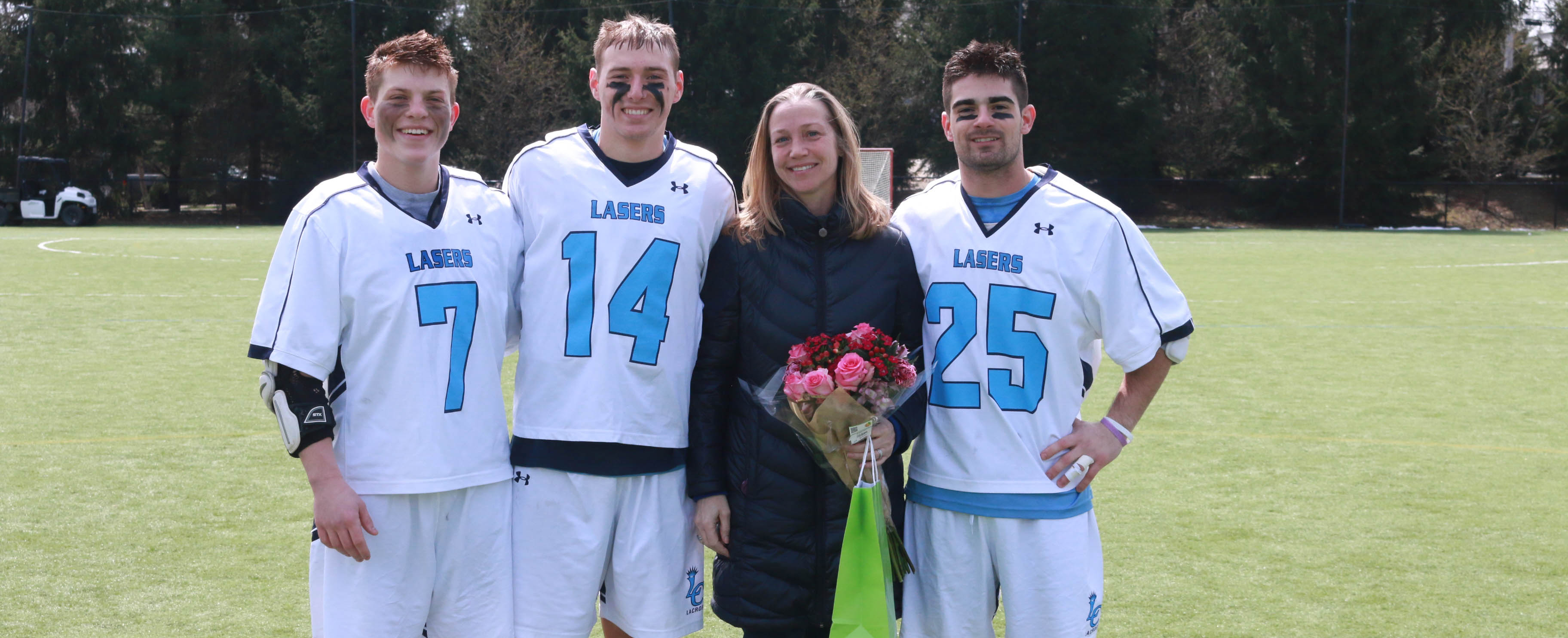 Lasers Avenge Mustangs 9-7 in Appreciation of Professor Karin Raye