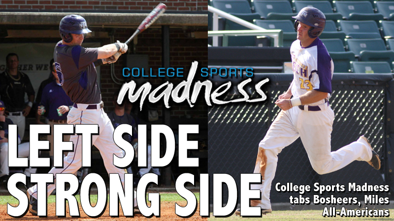College Sports Madness tabs Bosheers, Miles All-Americans