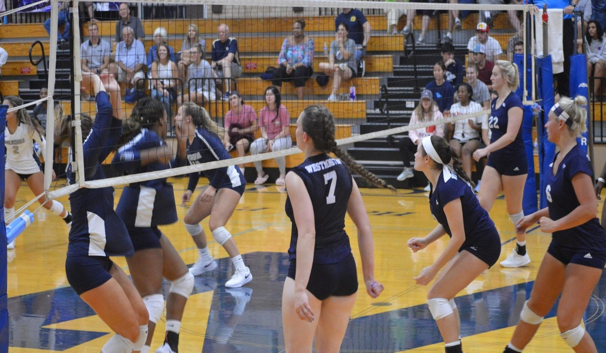 Westminster Volleyball Sweeps Webster in Home Opener