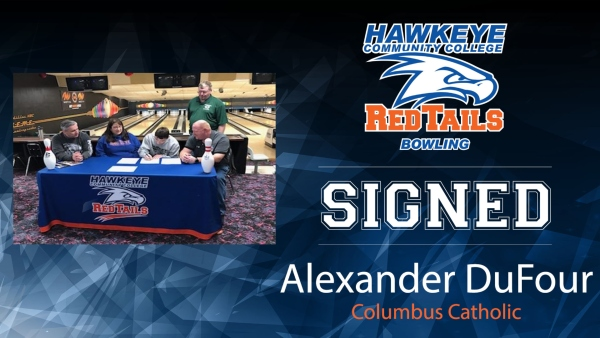 DuFour Signs with RedTail Bowling