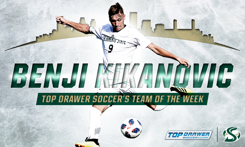 MEN'S SOCCER'S KIKANOVIC NAMED TO NATIONAL TEAM OF THE WEEK
