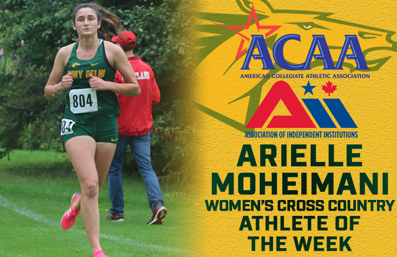 Arielle Moheimani Named ACAA, AII Athlete of the Week