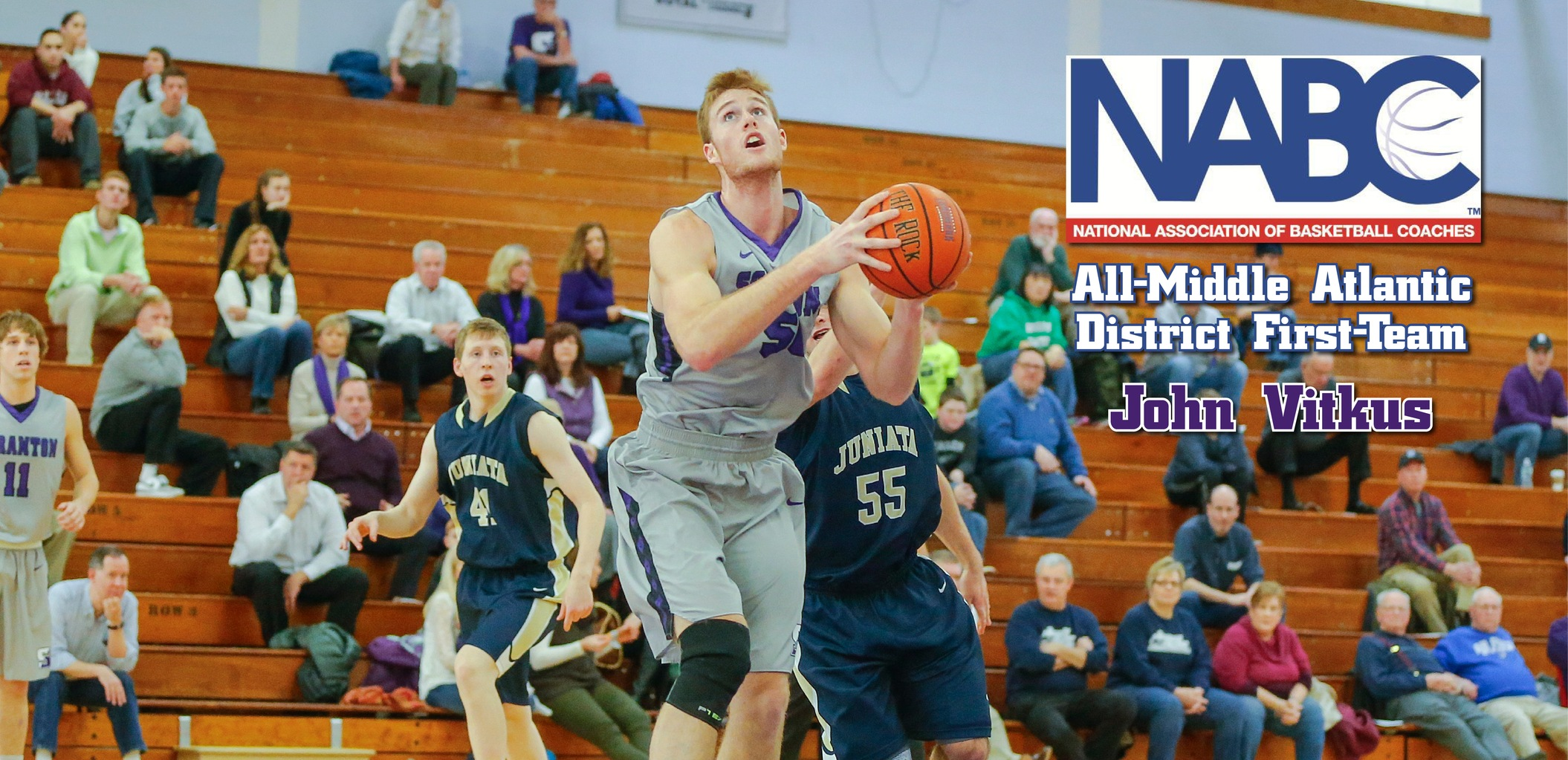 Vitkus Earns NABC First-Team All-District Accolades
