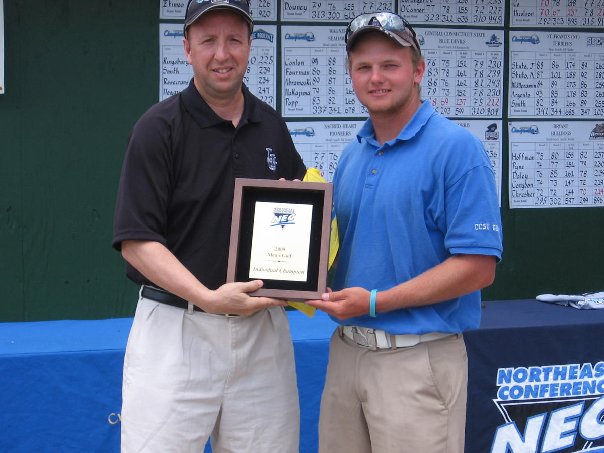 Hawerchuk Wins 2009 Northeast Conference Men's Golf Championships, Blue Devils Finish Second
