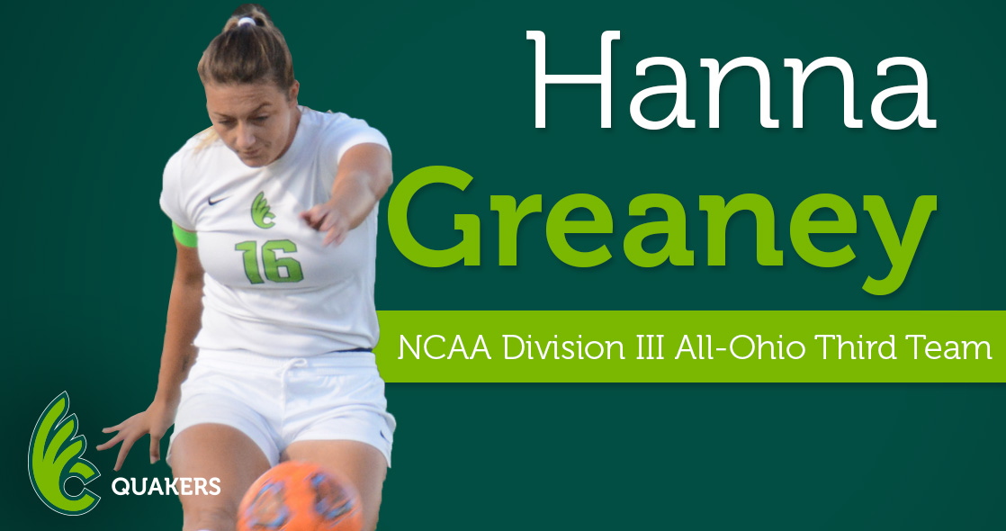 Greaney Receives OCSA Third Team All-Ohio Recognition