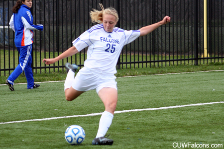 Brehmer Scores Four Goals to Lead Women's Soccer to NAC Victory