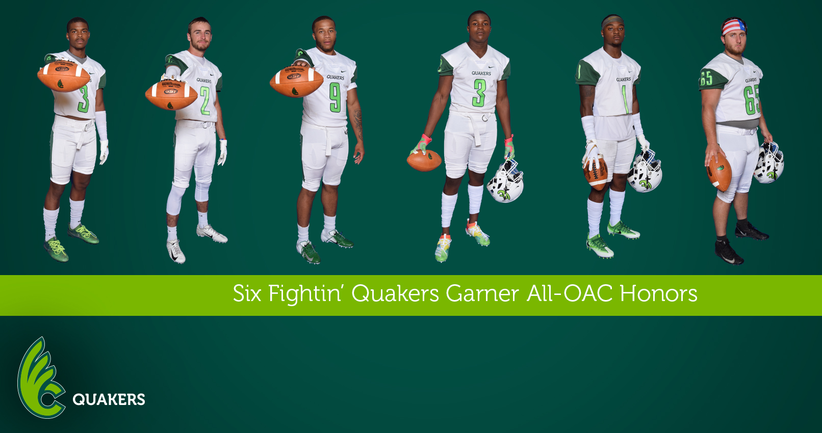 Football Places Six on All-OAC Teams