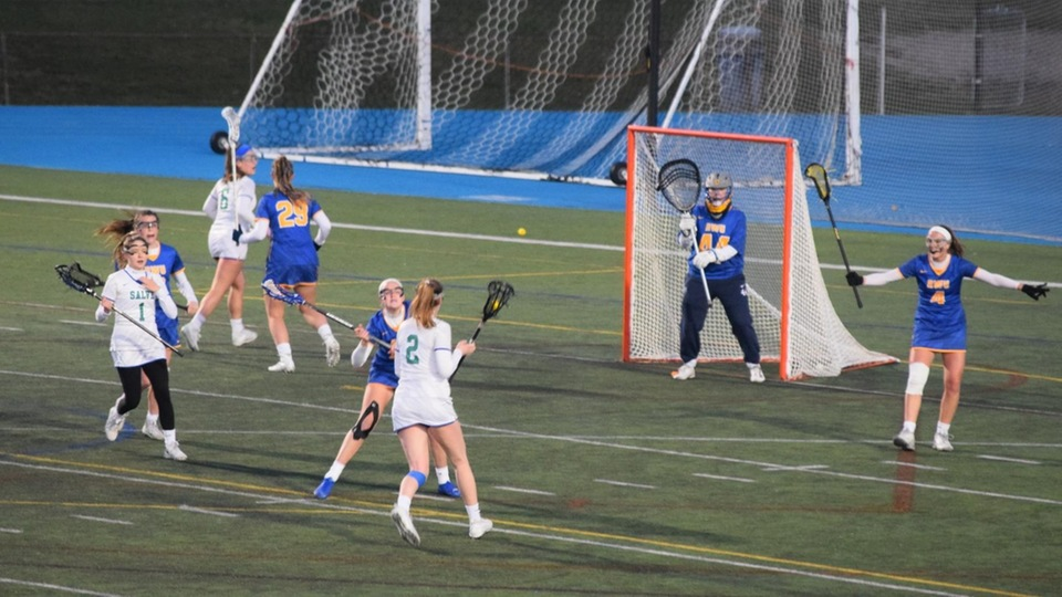 The 1-2 punch came through for the Seahawks as Olivia Slysz (No. 1) and Nicole Smith (No. 2) scored two goals apiece on Wednesday. (Photo by Ed Habershaw)