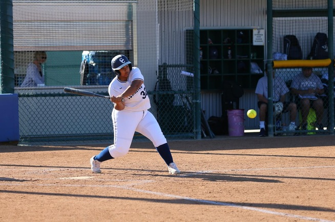 File Photo: Kayla Hernandez hit a home run in the Falcons loss