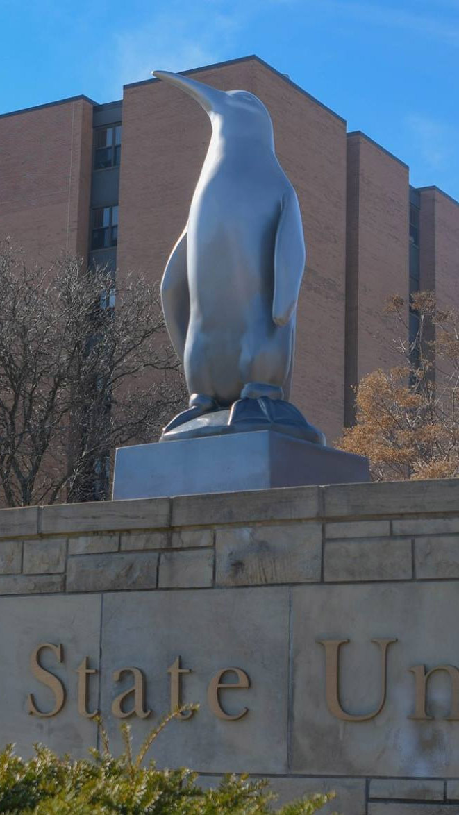 Penguin Statue on University Plaza