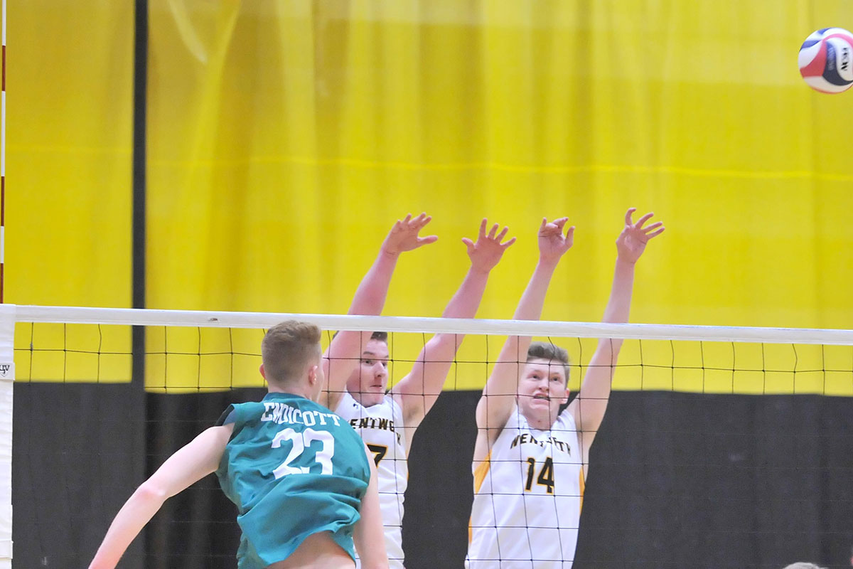 Men's Volleyball Takes Two at Mount Ida