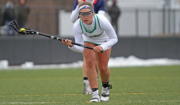 Copyright 2017; Wilmington University. All rights reserved. File photo of Megan Card against Queens, taken by Frank Stallworth.