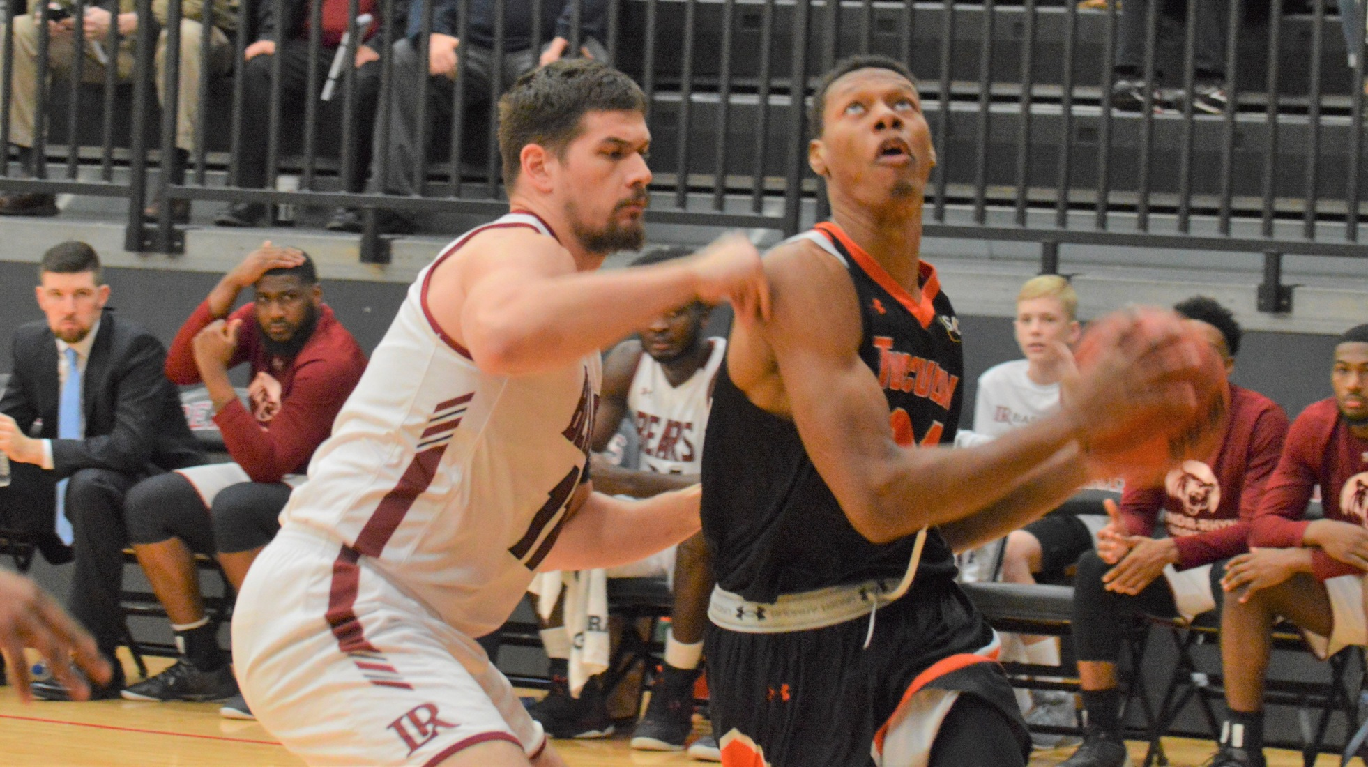 Brandon Mitchell scored a career-high 20 points in Tusculum's SAC road game at Lenoir-Rhyne