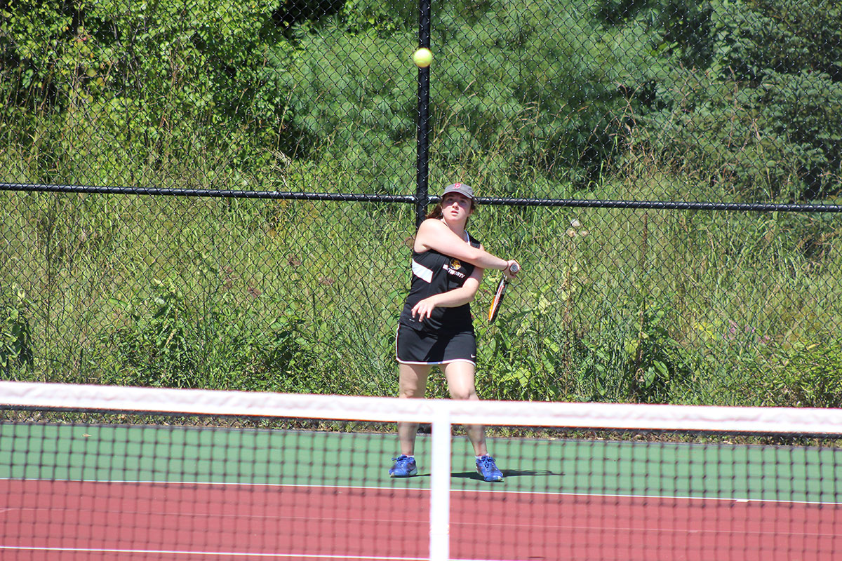 Women's Tennis Doubled up by Regis