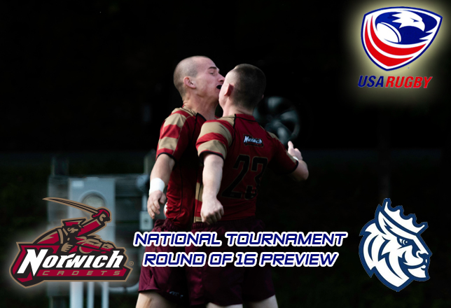 Men's Rugby: Norwich faces Queens University of Charlotte in USA Rugby Division II Round of 16