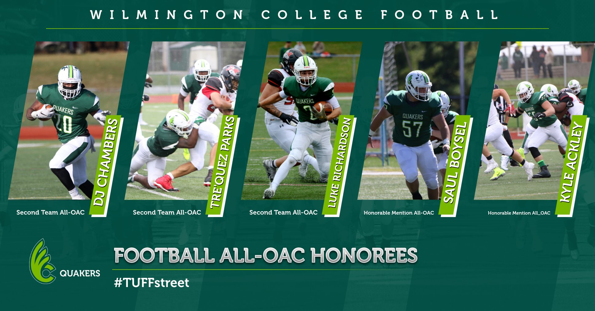 Football Places Five on All-OAC Teams