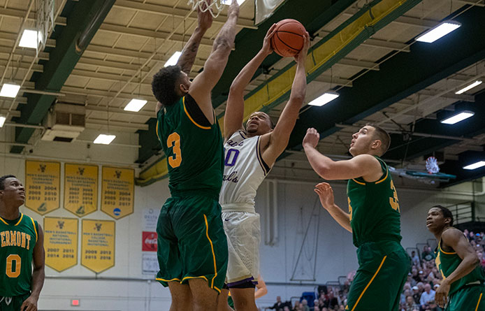 Men's Basketball Falls to Merrimack, Qualifier for Last Two NCAA Tournaments