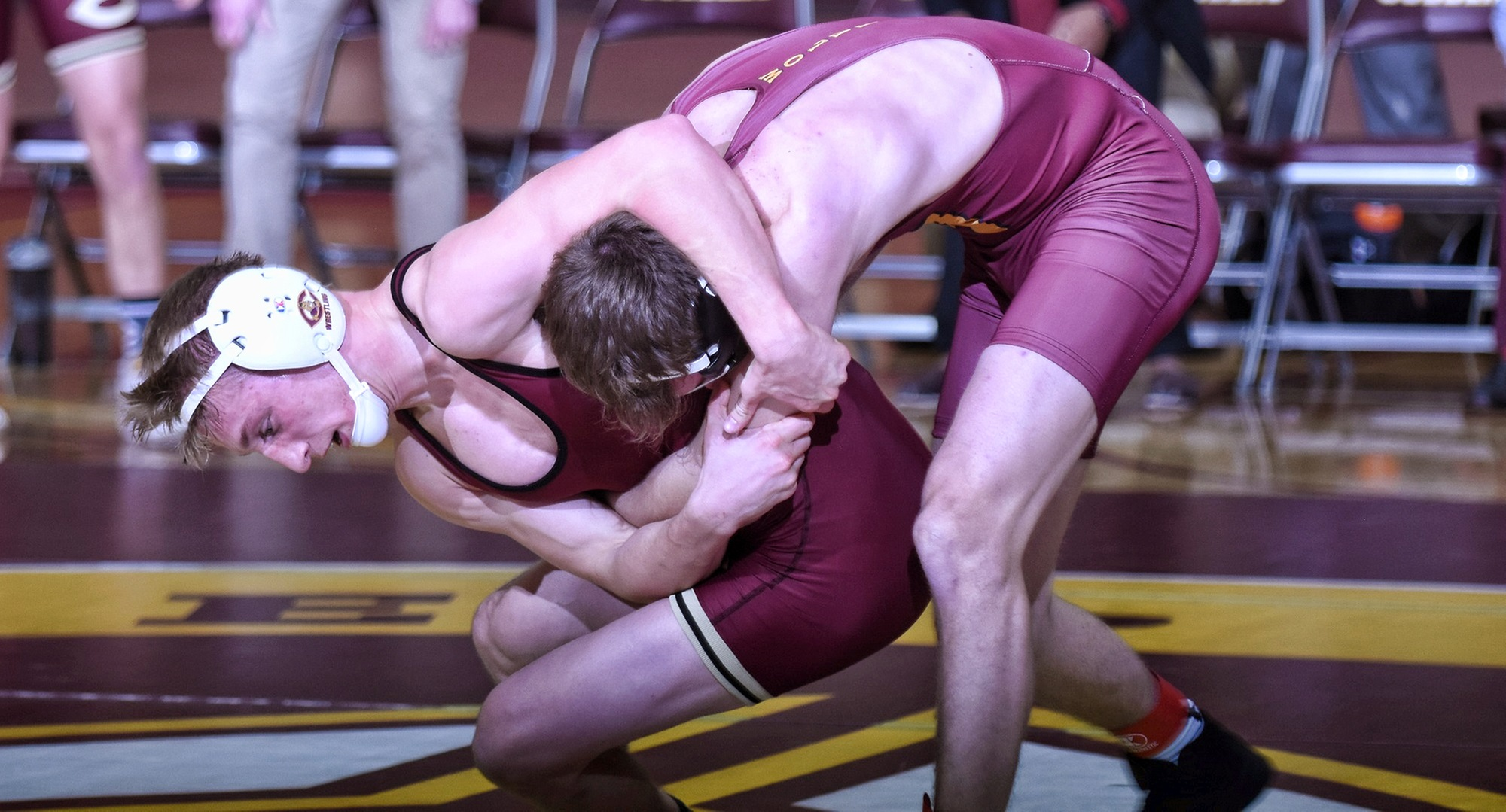 Freshman Kellen Schauer was unbeaten in his two matches at the Univ. of Dubuque duals.