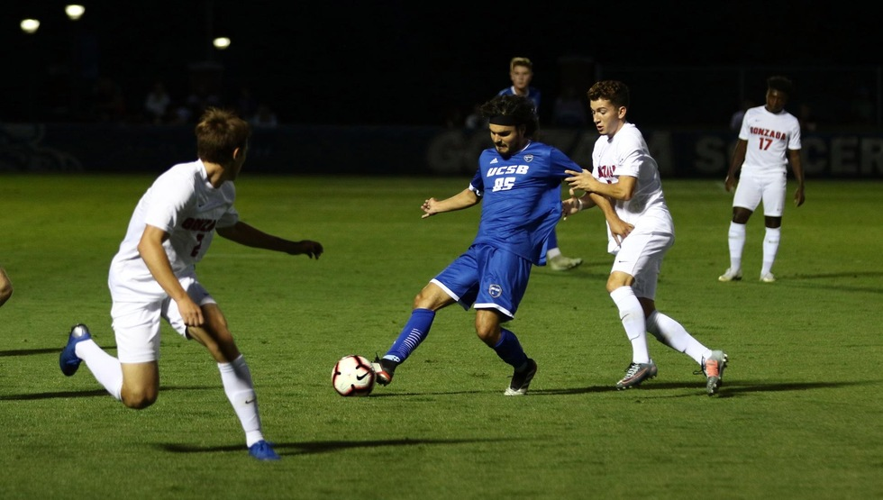 Thibault Candia scored the game-winning goal for UCSB in the Gauchos' 3-2 win over Oregon State on Sunday night. (Photo courtesy Gonzaga Athletics)