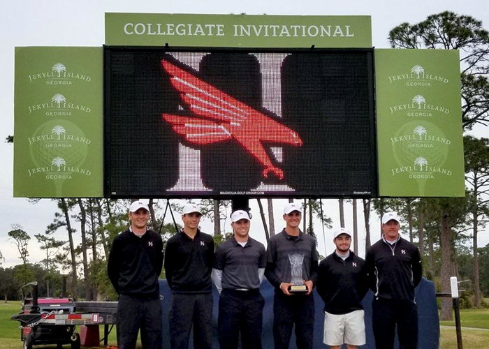 Senior Stephen Shephard earned medalist honors, junior Drew Mathers placed second and the second-ranked Huntingdon men's golf team finished second in the Jekyll Island Invitational. (Photo submitted)